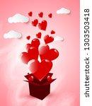 vector illustration.valentine's ...   Shutterstock .eps vector #1303503418