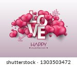 vector illustration.valentine's ... | Shutterstock .eps vector #1303503472
