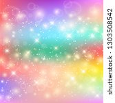 unicorn rainbow background.... | Shutterstock .eps vector #1303508542