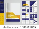 16 pages  education brochure... | Shutterstock .eps vector #1303527865