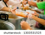feeding concept  food donation  ... | Shutterstock . vector #1303531525
