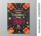 happy valentines day party... | Shutterstock .eps vector #1303536595