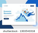 landing page template of... | Shutterstock .eps vector #1303543318