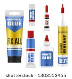 glue stick  tube and bottle... | Shutterstock .eps vector #1303553455