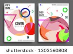 modern abstract covers set.... | Shutterstock .eps vector #1303560808