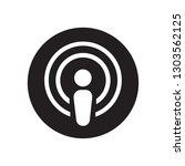 podcast icon vector. perfect... | Shutterstock .eps vector #1303562125