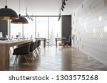 modern coworking office... | Shutterstock . vector #1303575268