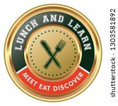 lunch and learn badge | Shutterstock .eps vector #1303581892