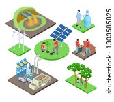 ecology isometric concept with...   Shutterstock .eps vector #1303585825