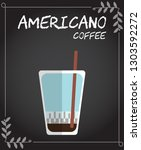 flat style cold americano... | Shutterstock .eps vector #1303592272