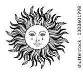 vector illlustration of sun  ... | Shutterstock .eps vector #1303601998
