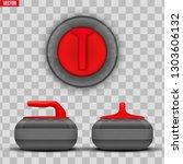 background curling stones.... | Shutterstock .eps vector #1303606132