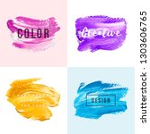 hand drawn marble paint strokes   Shutterstock .eps vector #1303606765