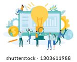 landing page template for... | Shutterstock .eps vector #1303611988