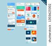 user interface widgets set....