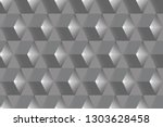 geometric gray cubes abstract... | Shutterstock .eps vector #1303628458