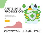 antibiotic protection flat...   Shutterstock .eps vector #1303631968