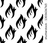 fire flame icon seamless... | Shutterstock .eps vector #1303636765