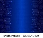 abstract circuit board on the... | Shutterstock .eps vector #1303640425