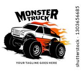 Monster Truck Vector Logo...