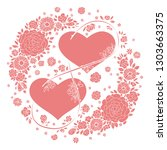 valentine's day card.... | Shutterstock .eps vector #1303663375