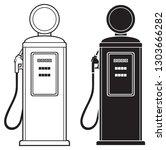 retro gasoline pump  | Shutterstock .eps vector #1303666282