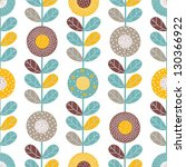 ornate seamless pattern with... | Shutterstock .eps vector #130366922