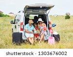 vacation  travel   family ready ...   Shutterstock . vector #1303676002