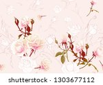 rose roses seamless pattern. on ... | Shutterstock .eps vector #1303677112