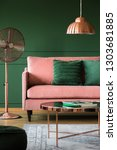 copper accents in elegant... | Shutterstock . vector #1303681885