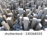 3d city   view from above | Shutterstock . vector #130368335