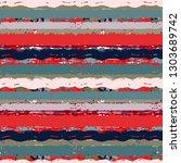 striped seamless pattern. brush ... | Shutterstock .eps vector #1303689742