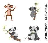 set of animals in vector... | Shutterstock .eps vector #1303691002