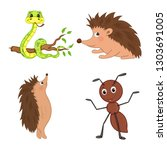 set of animals in vector... | Shutterstock .eps vector #1303691005