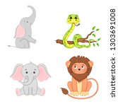 set of animals in vector... | Shutterstock .eps vector #1303691008