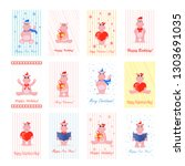children's cards for valentine... | Shutterstock .eps vector #1303691035
