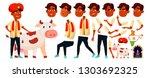 indian boy vector. diwali  holy ... | Shutterstock .eps vector #1303692325