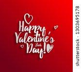 happy valentine s day hand... | Shutterstock . vector #1303695178