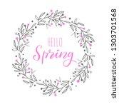 hello spring vector handwritten ... | Shutterstock .eps vector #1303701568
