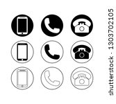 phone icon  phone symbol.... | Shutterstock .eps vector #1303702105