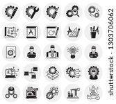 engineering icons set on...   Shutterstock .eps vector #1303706062