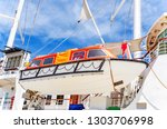 The Lifeboat Is Suspended On A...