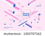 creative design poster with... | Shutterstock .eps vector #1303707262
