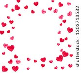 heart frame for valentines day... | Shutterstock .eps vector #1303713532