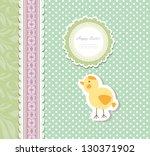 vintage doodle baby bird... | Shutterstock .eps vector #130371902