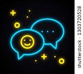neon message sign. bright... | Shutterstock .eps vector #1303720528