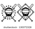 vector illustration baseball... | Shutterstock .eps vector #130372328