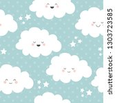 seamless pattern with pretty... | Shutterstock .eps vector #1303723585