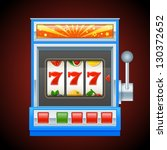 blue slot machine | Shutterstock .eps vector #130372652