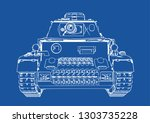 drawing of old military... | Shutterstock .eps vector #1303735228